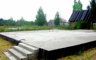 Расчет толщины плитного фундамента