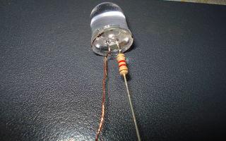 Расчет резисторов для светодиодов