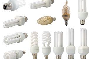 Основные виды энергосберегающих ламп и их характеристики