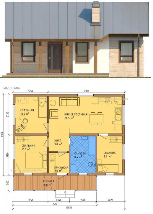 Маленький домик с терассой