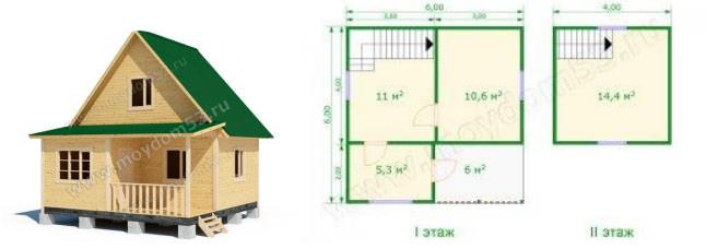 Дом эконом-класса (проект №2)