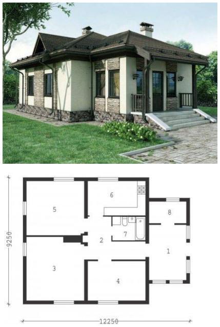 Дом с верандой (проект)