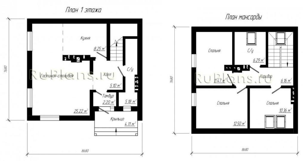 Дачный дом улучшенной планировке - проект