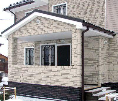 Дом, обшитый фиброцементной панелью