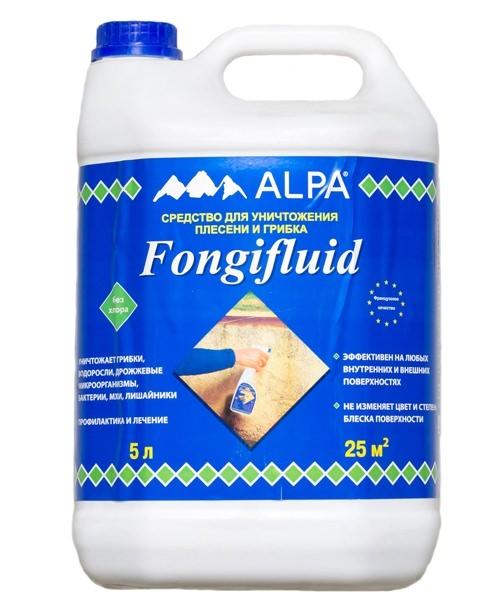 """Фонгифлюид Альпа"" - средство от грибка на стене"