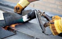 Процесс работы горелки при кровле крыши