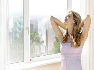 Девушка у окна Rehau