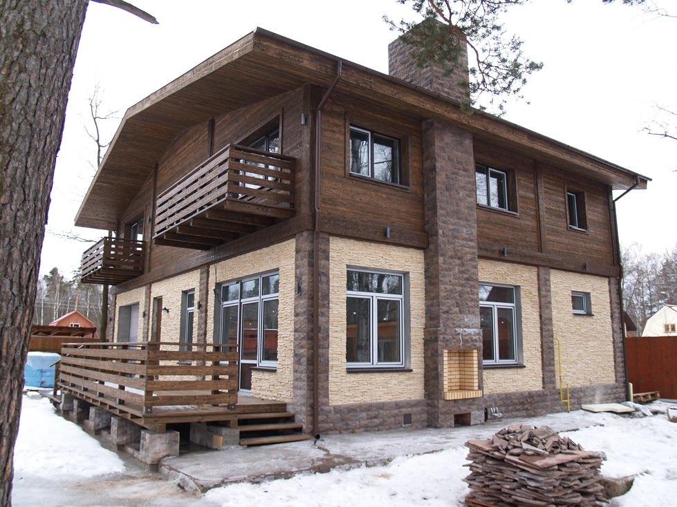 Дом с навесным фасадом