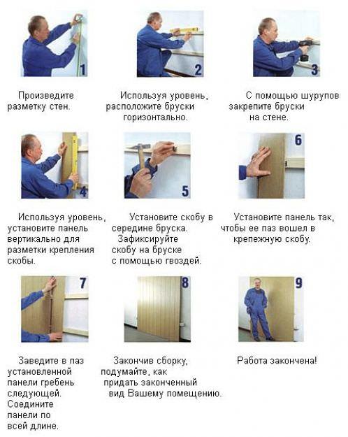 Инструкция по монтажу МДФ панелей