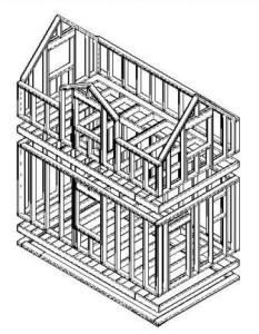 Поддонная конструкция дома