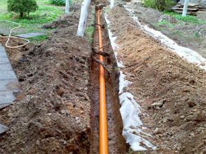 Прокладка канализации в частный дом