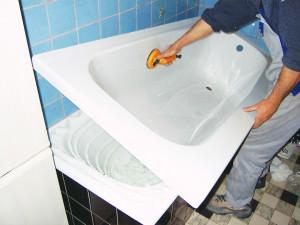 Реставрация ванны акриловым вкладышем