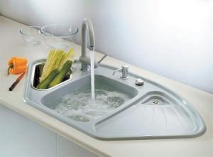 Текущая вода в раковине
