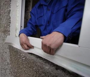 Укрепление ленты ПСУЛ на окне