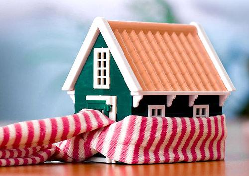 Дом, окутанный в шарф