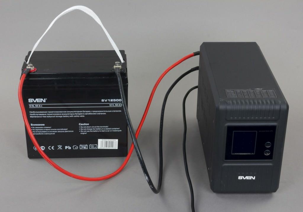 ИБП с внешним аккумулятором