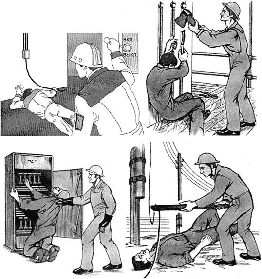 Освобождение человека от действий электрического тока