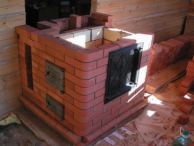Строим баню из кирпича на даче своими руками 12