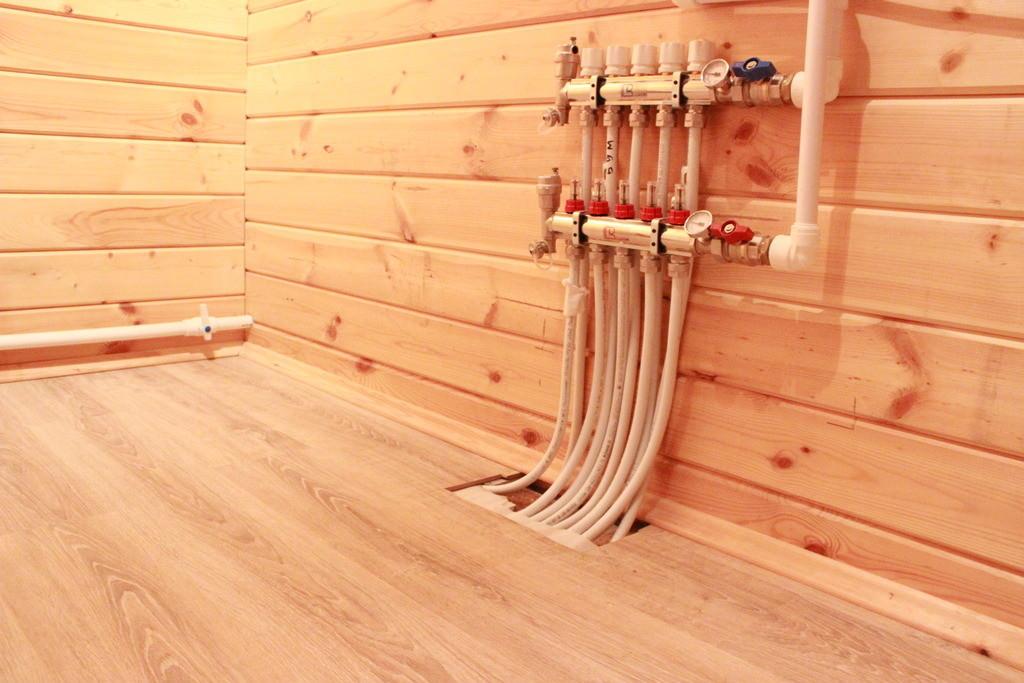 Водяной тёплый пол своими руками в деревянном доме