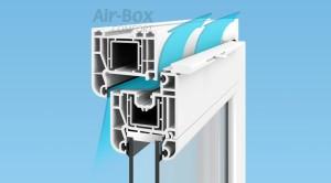 Пластиковое окно с клапаном AirBox comfort
