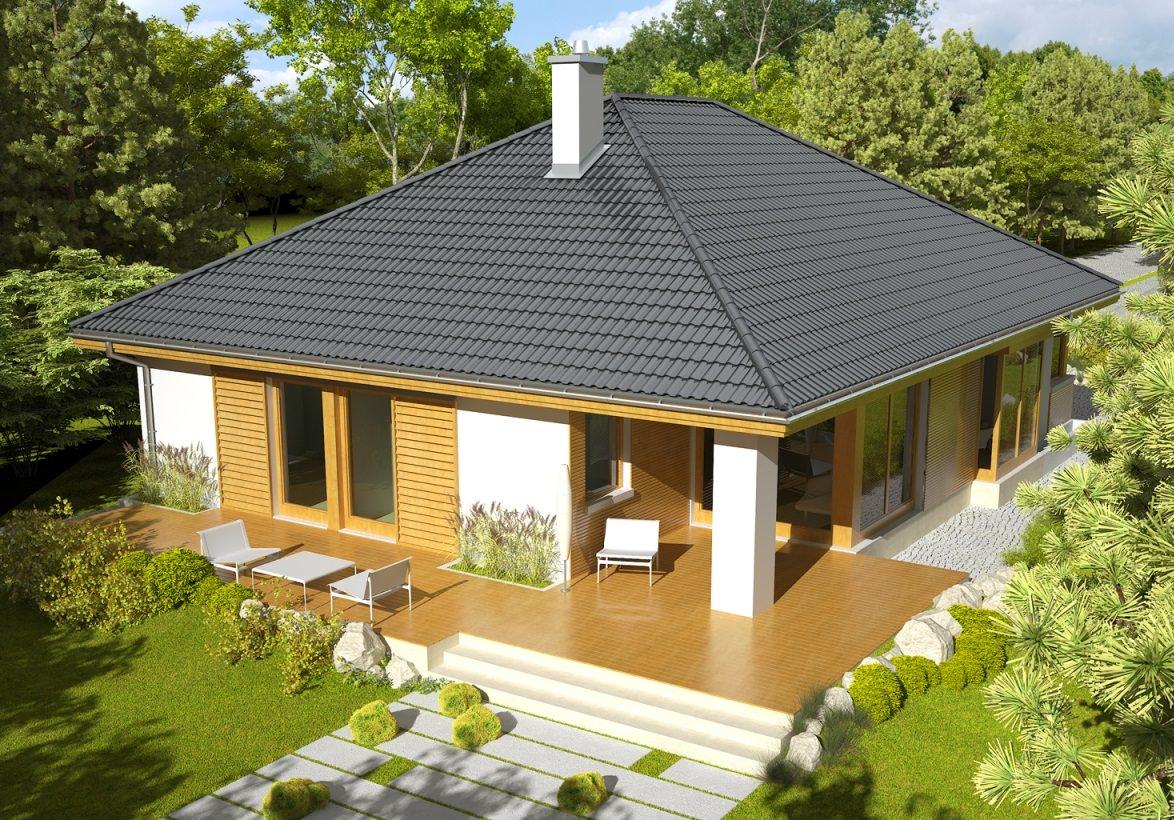Дизайны четырехскатных крыш