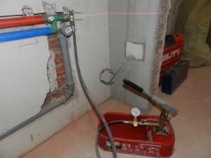 Опрессовка систем отопления воздухом