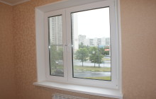 Пластиковое окно с откосом