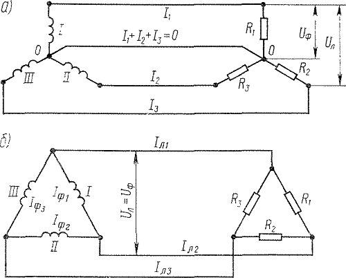 Схема соединения треугольником