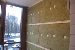 Стена, утепленная минватой