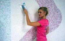 Как наносить на стену жидкие обои, инструкция для чайников