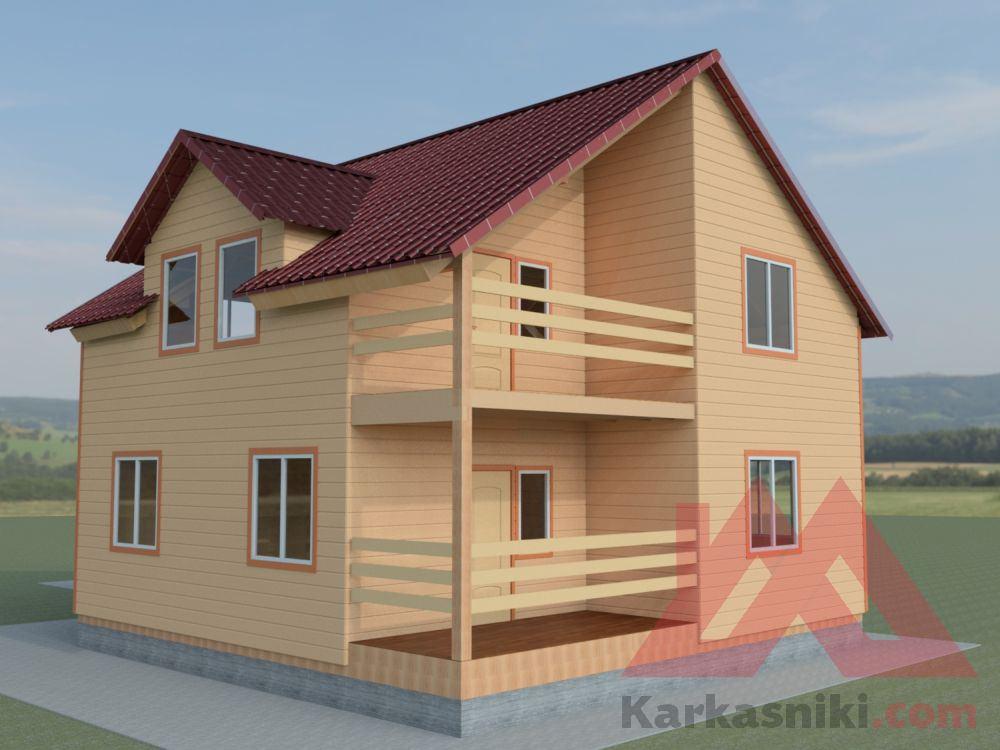 План крупного дома для большой семьи размером 132 м2