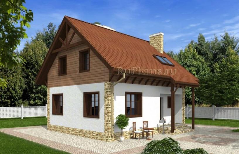 Дачный дом улучшенной планировке