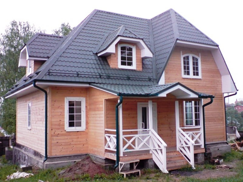 Каркасный дом - вид снаружи