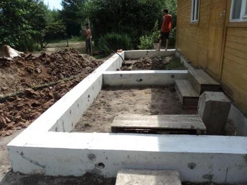 Как сделать фундамент для пристройки к дому