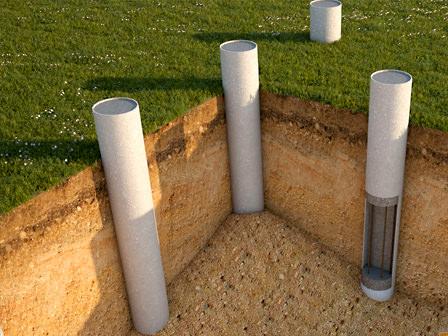 Асбестоцементные трубы для фундамента