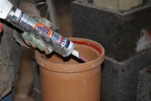 Использование герметика для дымохода