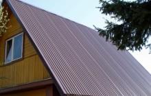 Крыша дома с профнастилом