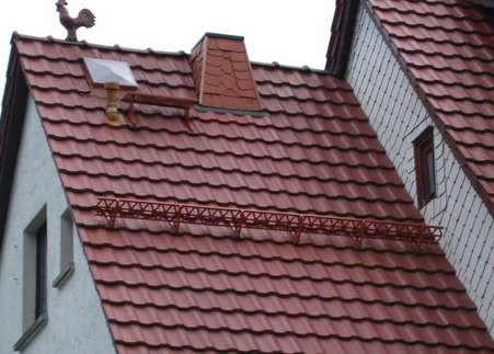 Крыша с металлопрофилем
