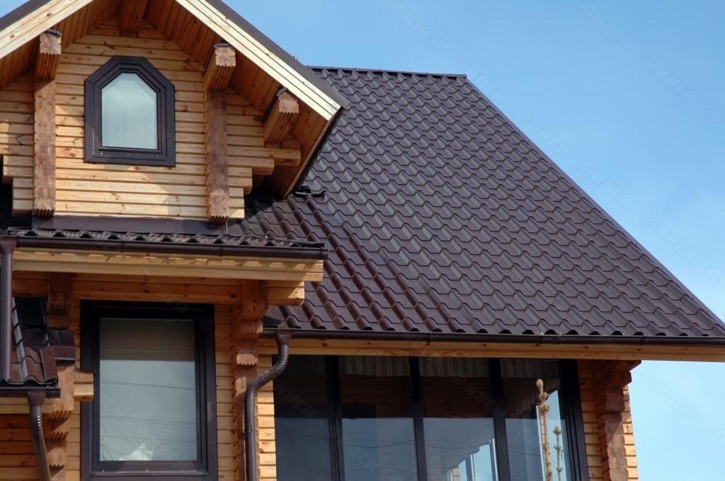 Ондулин на крыше дома
