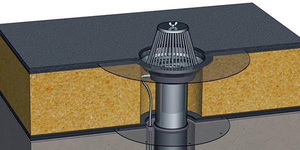 Устройство внутреннего водостока для крыши