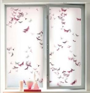 Декоративная плёнка на окне
