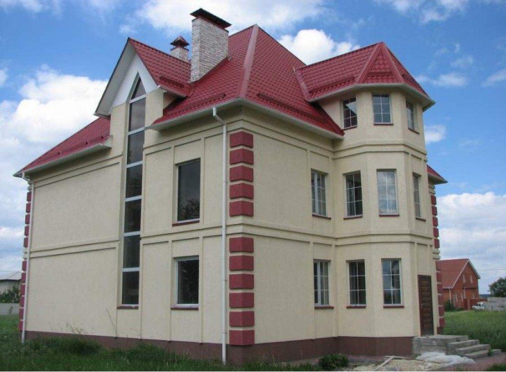 Дом, изготовленный по технологии мокрого фасада