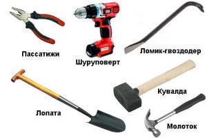 Инструменты для монтажа опалубки на ленточный фундамент