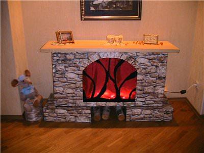 Картонный камин в доме