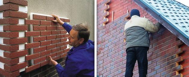 Монтаж клинкерных панелей для фасада