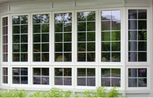 Окна с переплетом