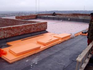 Экструдированный пенополистирол на крыше