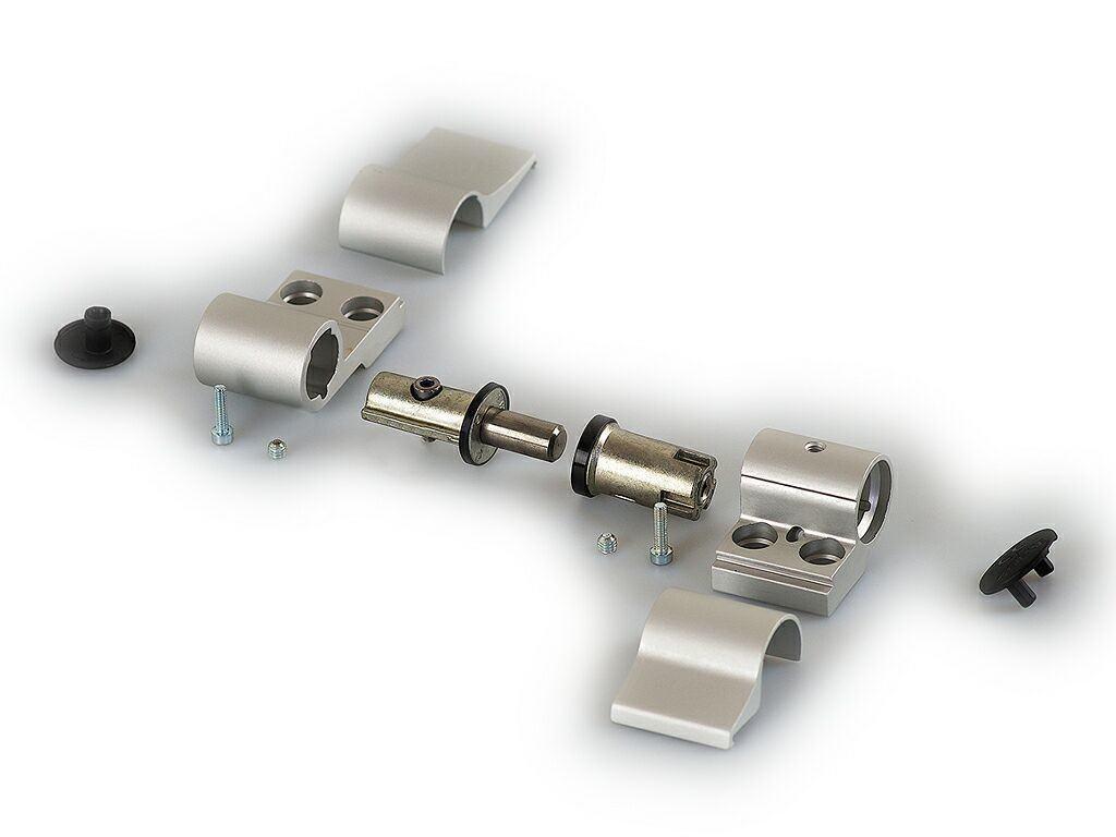 Разобранная петля для алюминиевых дверей
