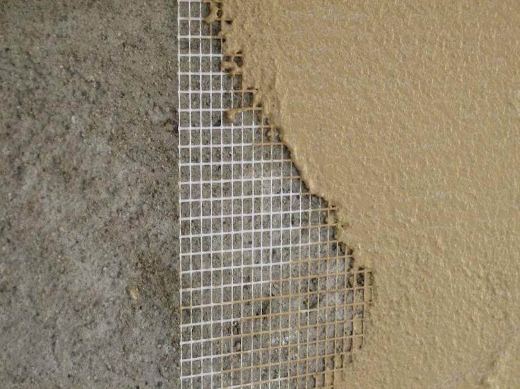 армирующая сетка для штукатурки стен внутри помещения