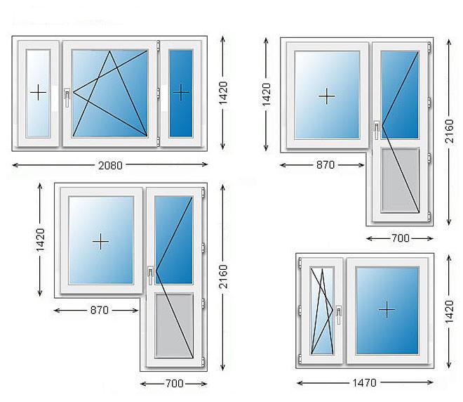 размер окна и проема